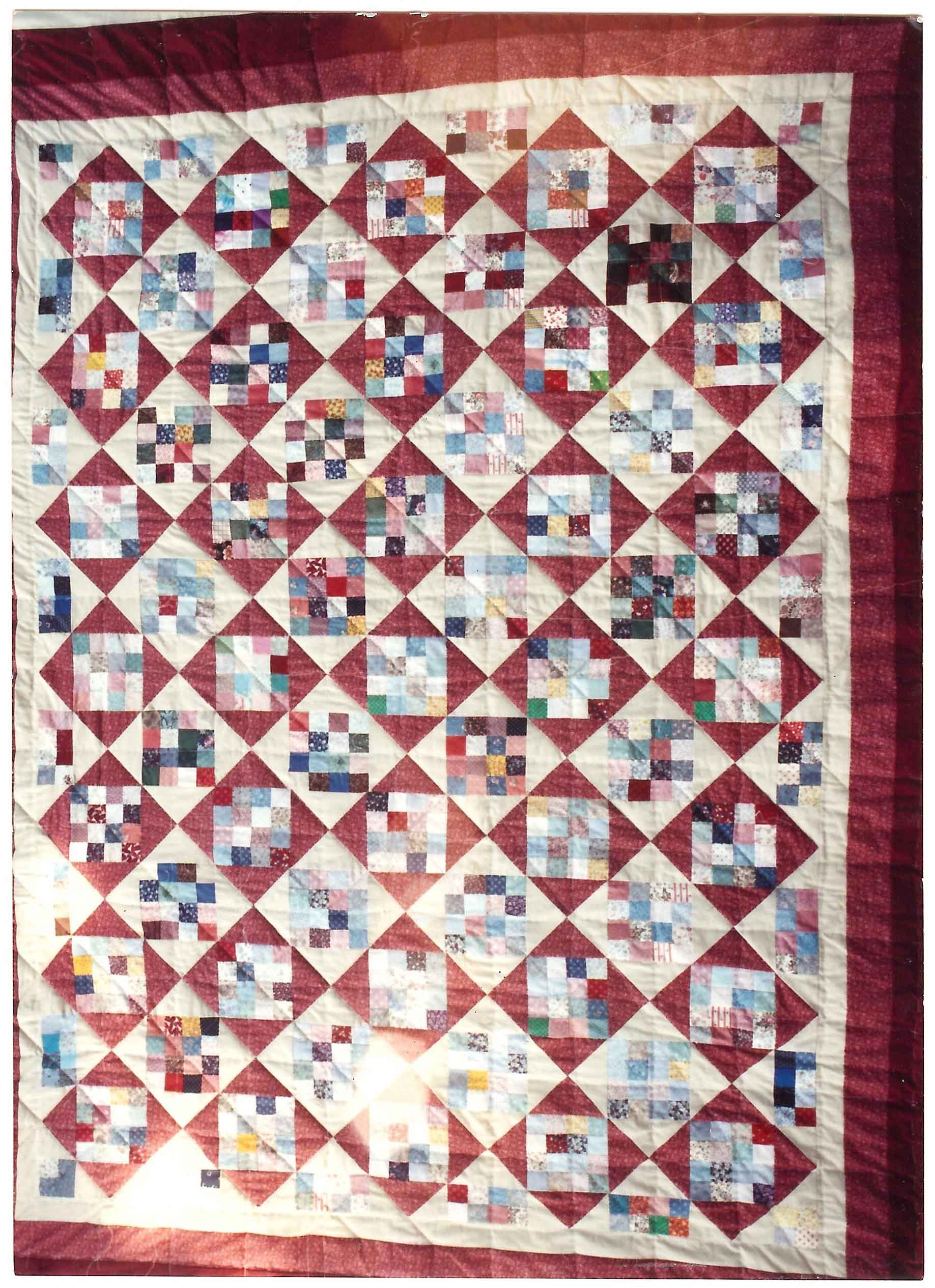 journey ivory log and a in with smith fibre patchwork quilts blue cabin barn quilt b category raising